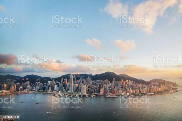 Hong Kong Victoria Hafen Aus Der Luft Stockfoto und mehr Bilder von 2 International Finance Center