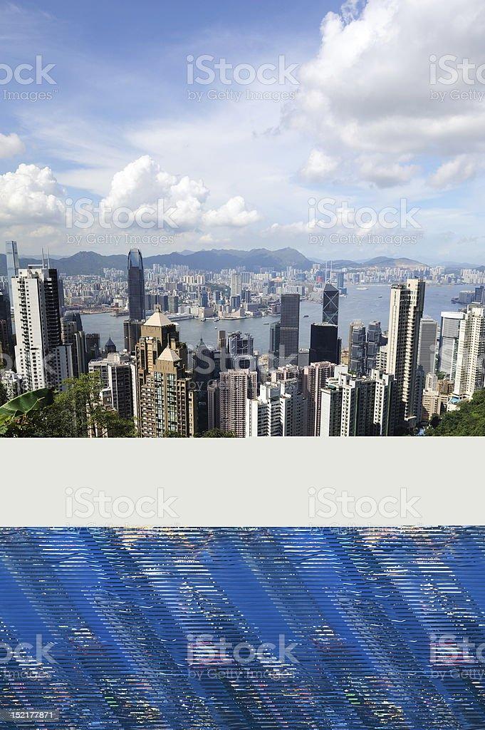 Hong Kong Victoria Harbor stock photo