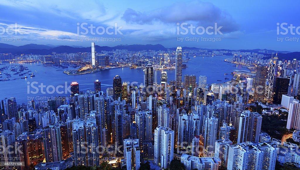 Hong Kong Victoria Harbor royalty-free stock photo