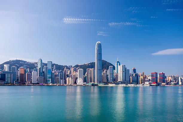 puerto victoria de hong kong - hong kong fotografías e imágenes de stock