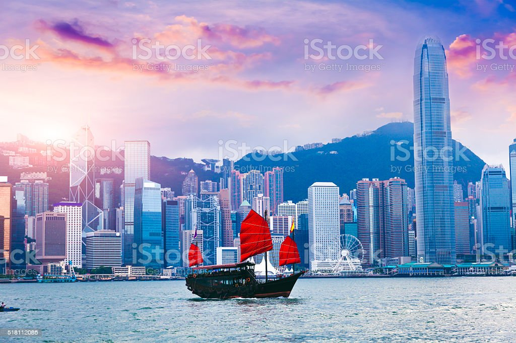 Hong Kong Victoria Harbour stock photo
