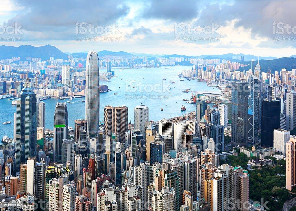 Hong Kong view stock photo