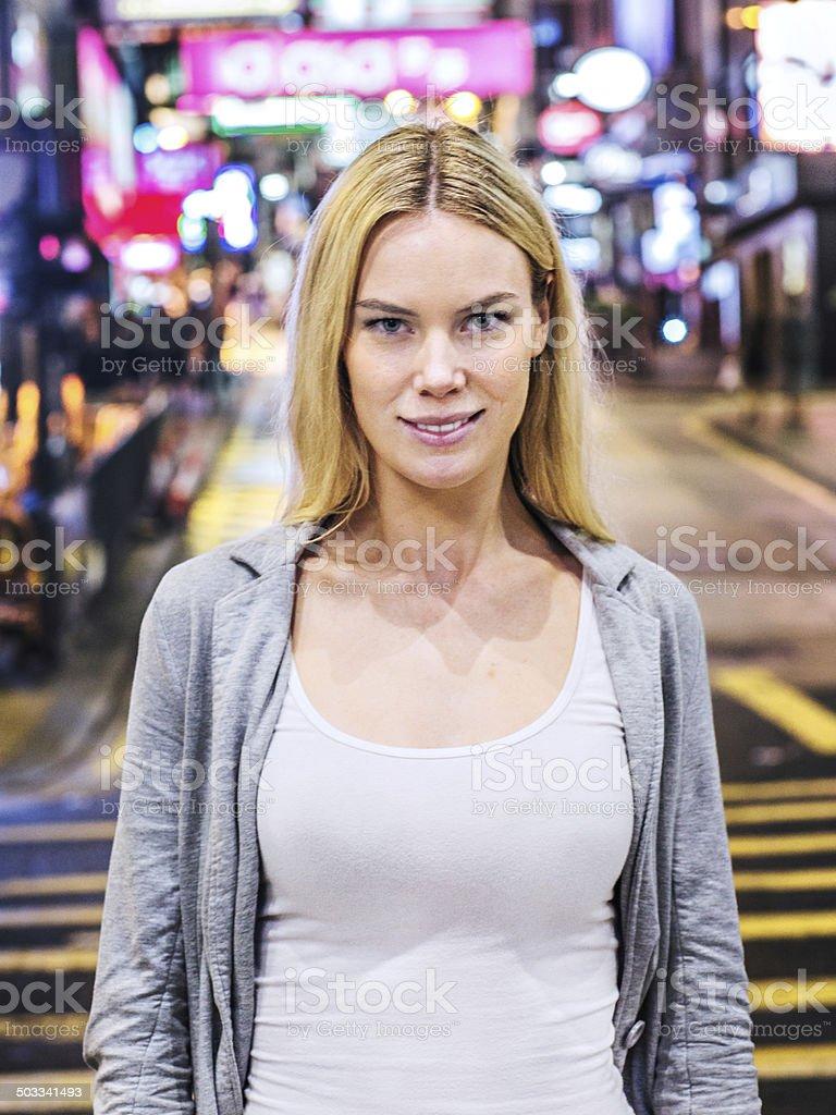 Hong Kong visitor royalty-free stock photo