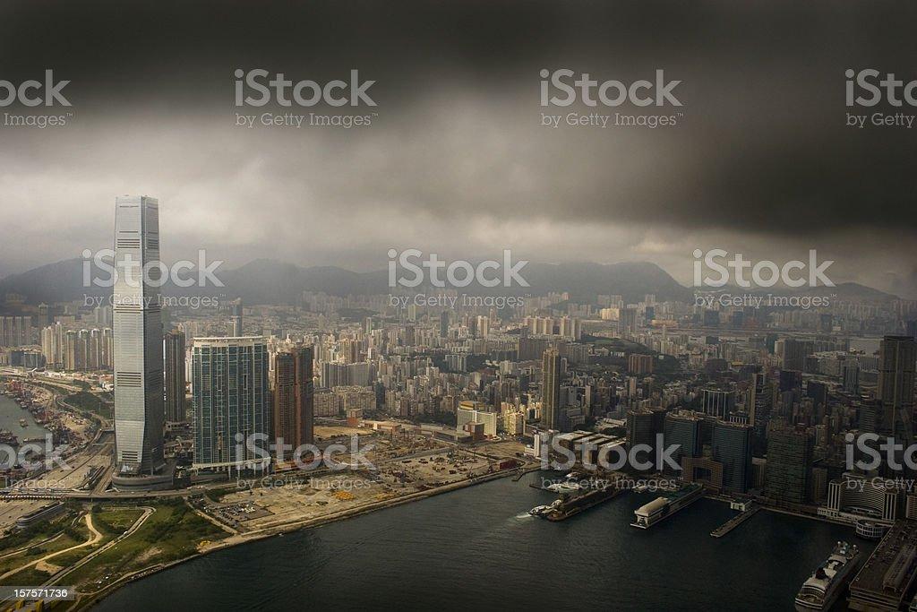 Hong Kong West Kowloon stock photo