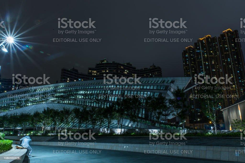 香港西九龍站綠色廣場圖像檔