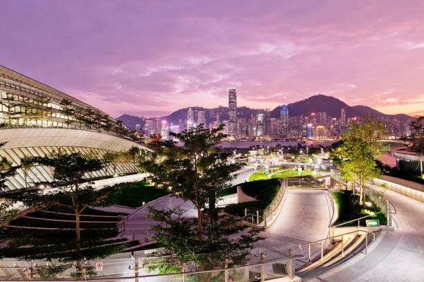 hong kong west kowloon station. - kowloon stock-fotos und bilder