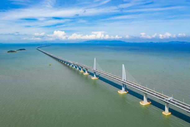 hong kong-zhuhai-macao köprüsü - guangdong i̇li stok fotoğraflar ve resimler