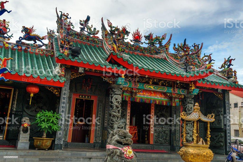 Hong San Si Temple in Kuching stock photo