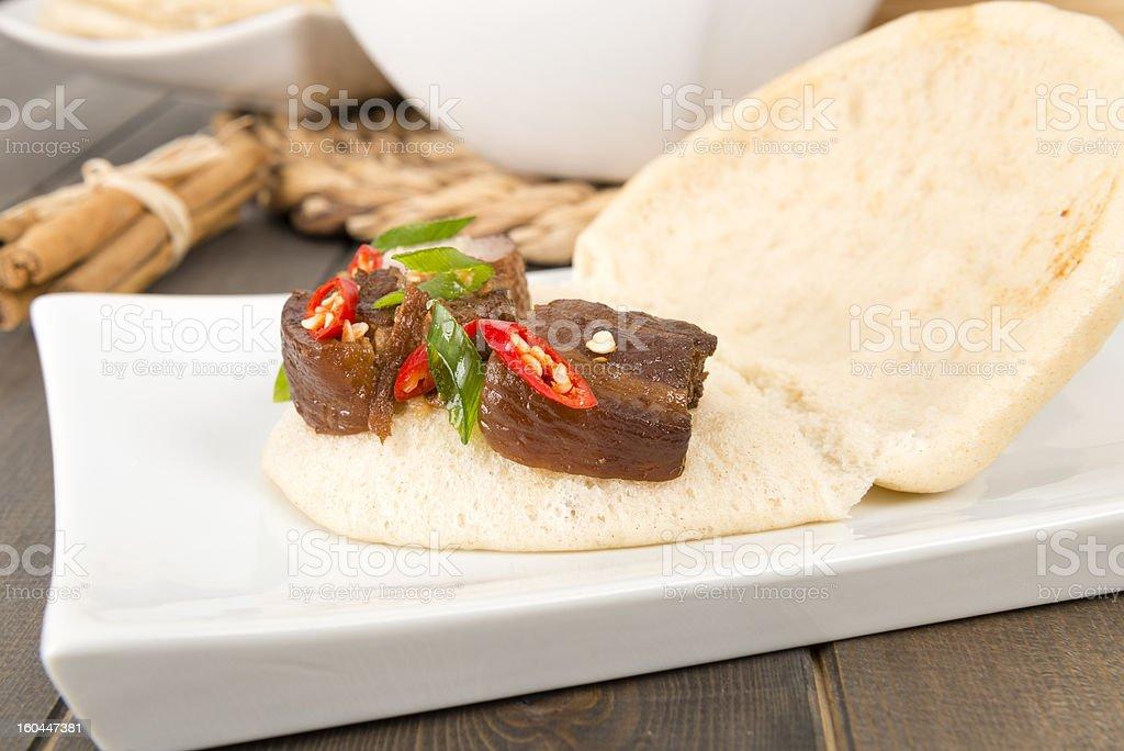 Hong Shao Rou (紅燒肉) - Chinese Red Braised Pork stock photo