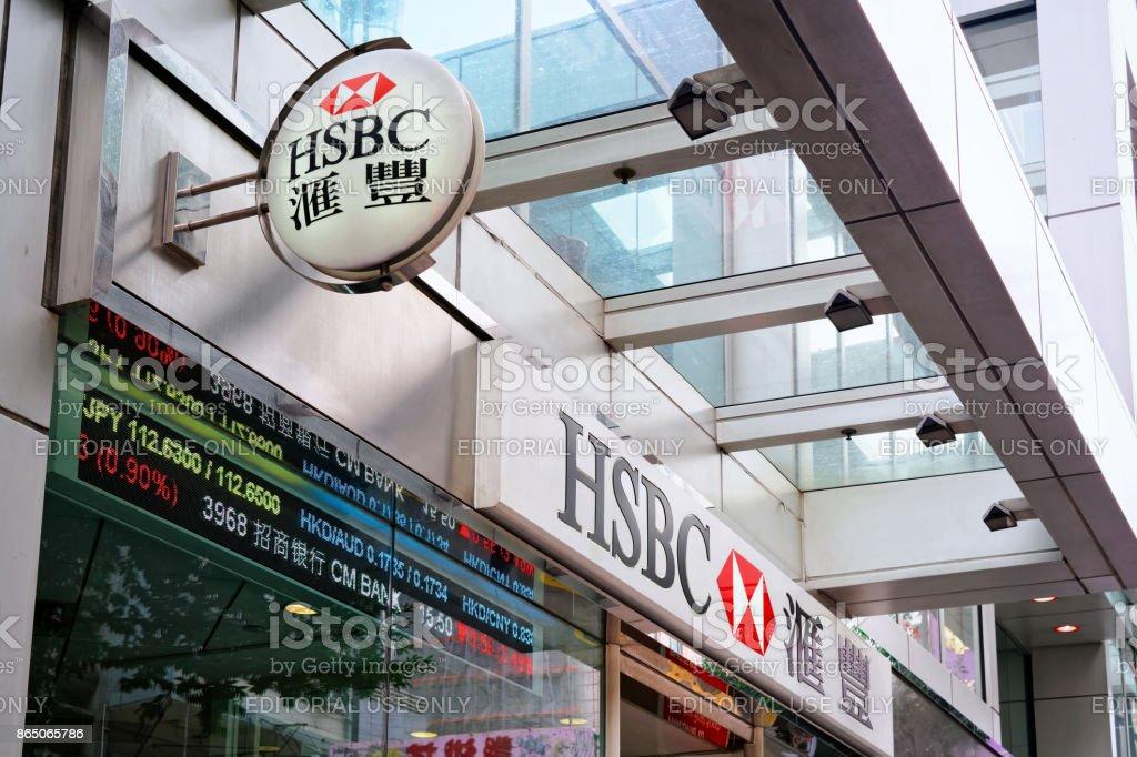 HSBC Hongkong and Shanghai Bank plate