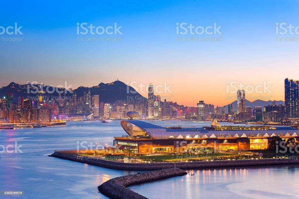 Hongkong New Angle, Central Background stock photo