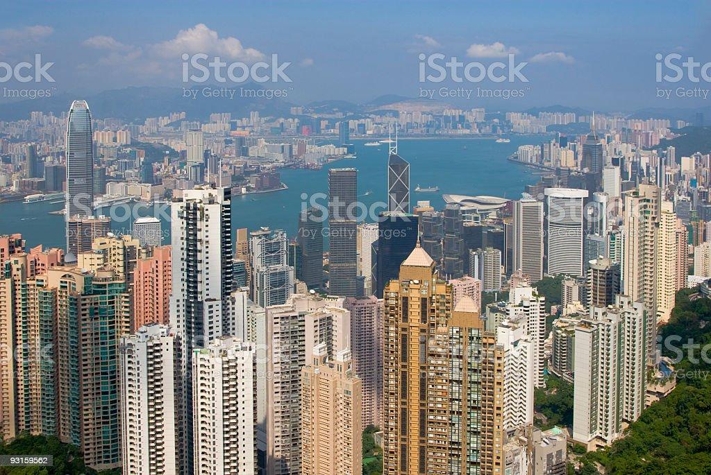 Hongkong Sky View royalty-free stock photo