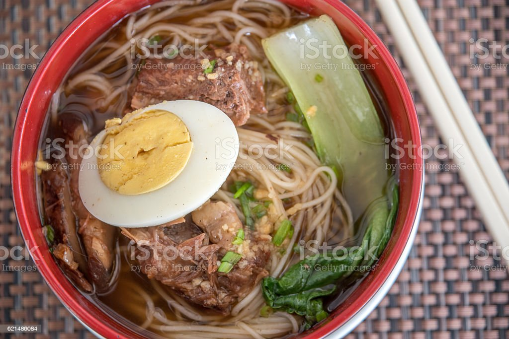 hongkong style spicy beef noodle foto stock royalty-free