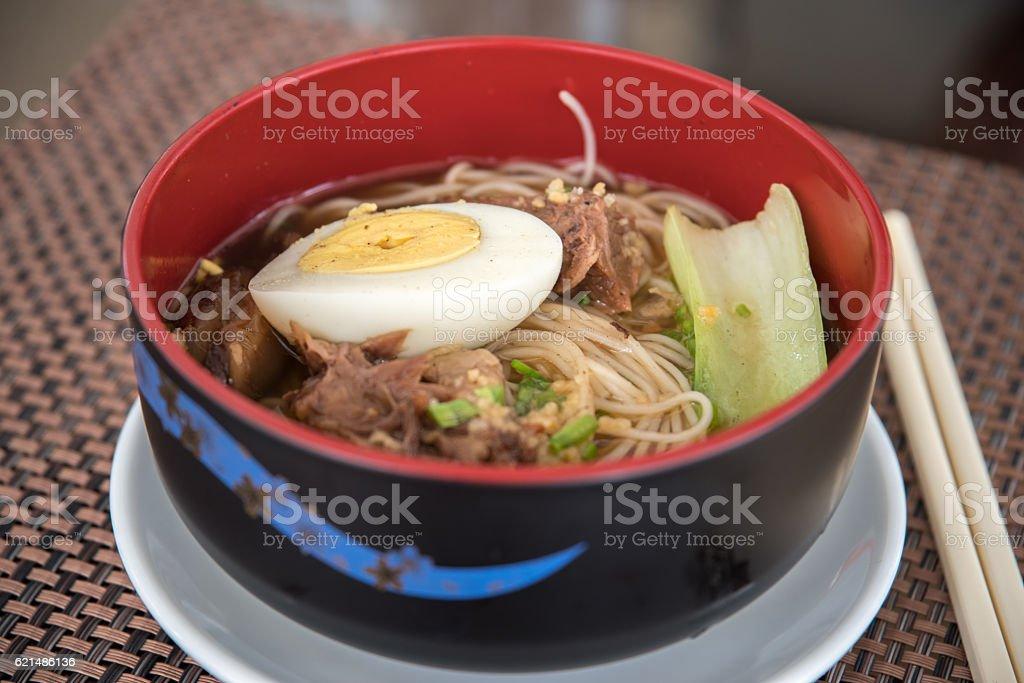 hongkong style spicy beef noodle Lizenzfreies stock-foto