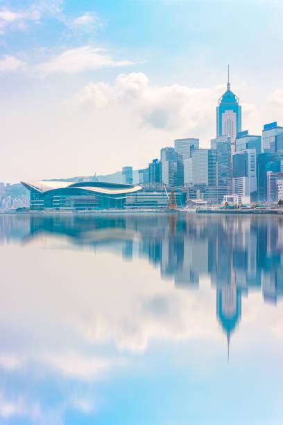 Skyline de Hong Kong Puerto de Victoria - foto de stock