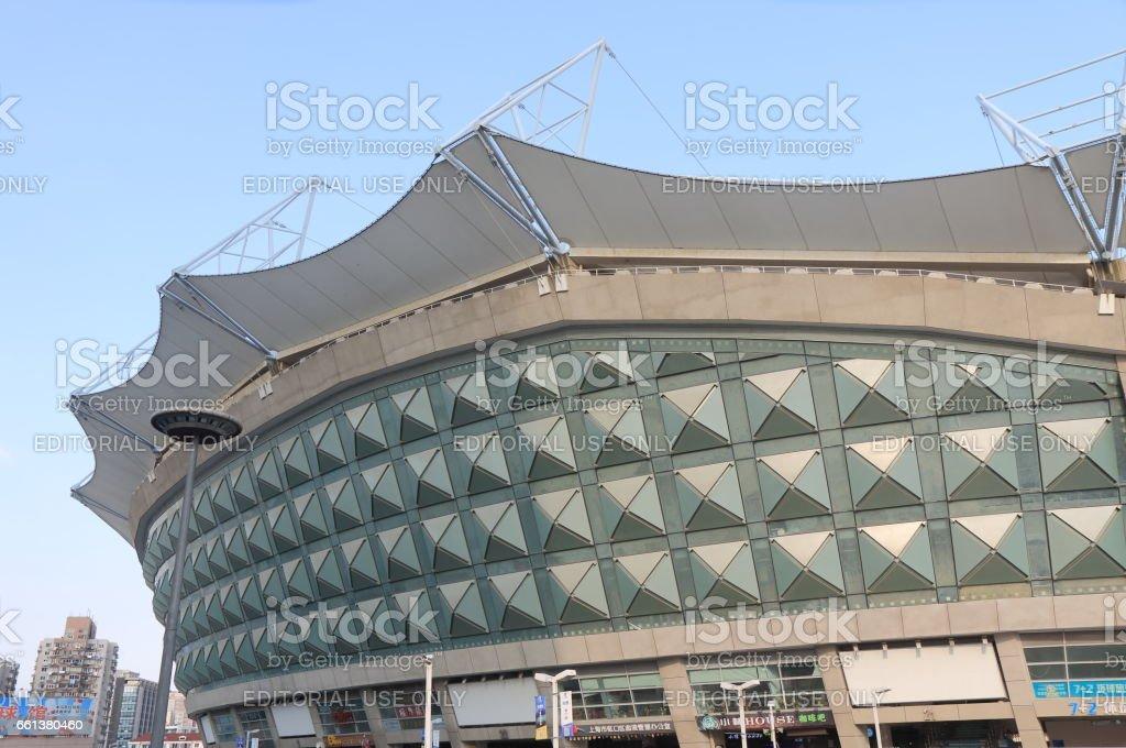 Hongkou Football Stadium Shanghai China stock photo
