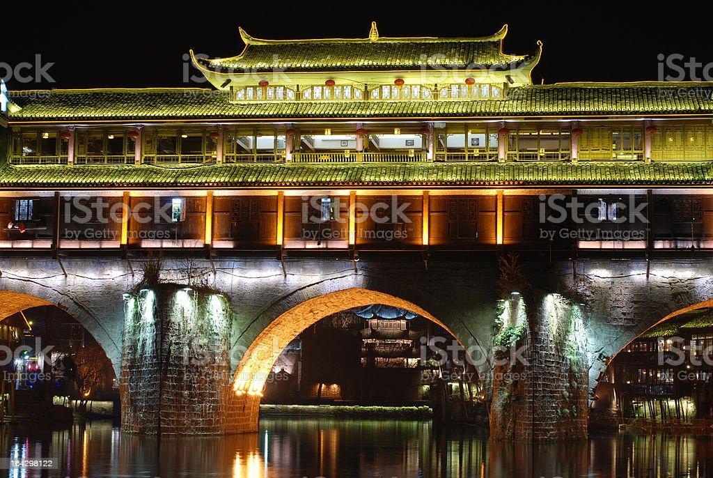 Hongqiao bridge opening night scene royalty-free stock photo