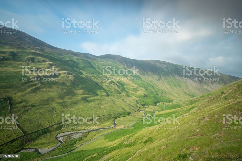 Honister Pass Lake District stock photo