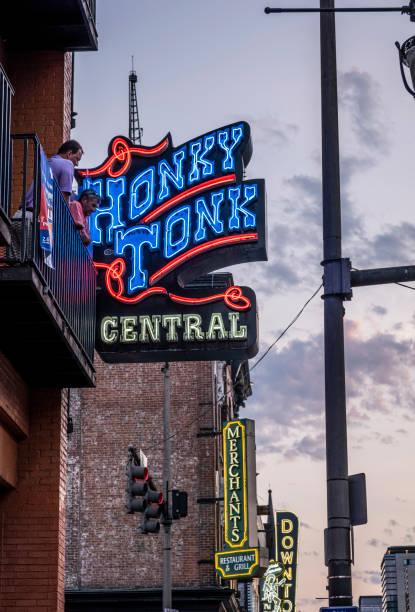 Honky Tonk Sign on Broadway stock photo