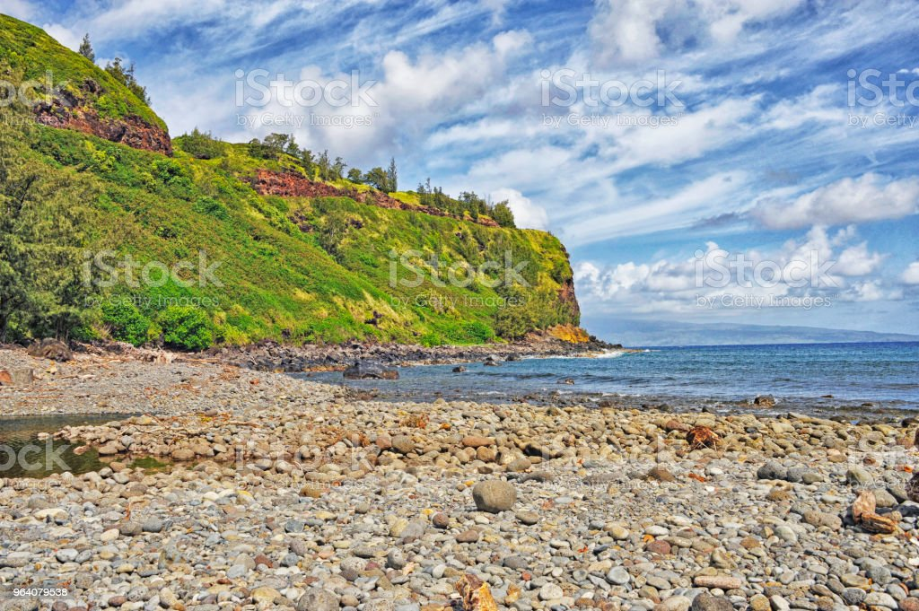 Honoko Hall Beach view Highway 30 Maui Hawaii - Royalty-free Beach Stock Photo