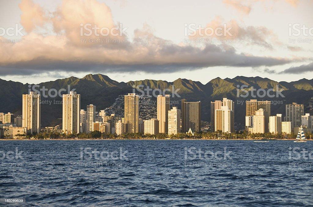 Honolulu city, Hawaii stock photo