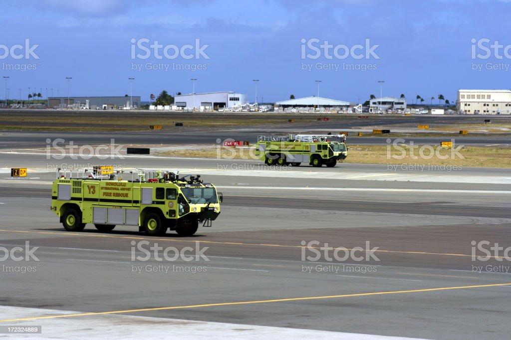 Honolulu Emergency Airport Response stock photo