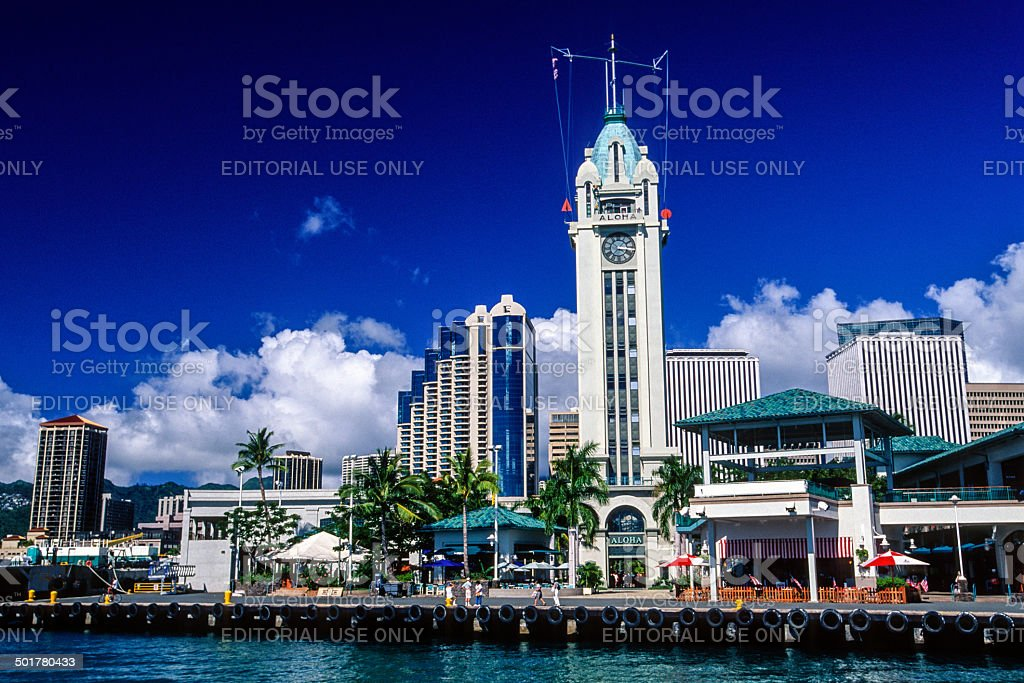 Honolulu Harbor stock photo