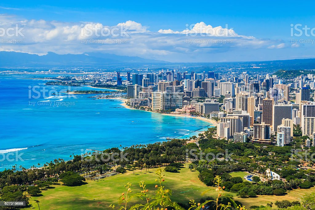 Honolulu, Hawaii stock photo