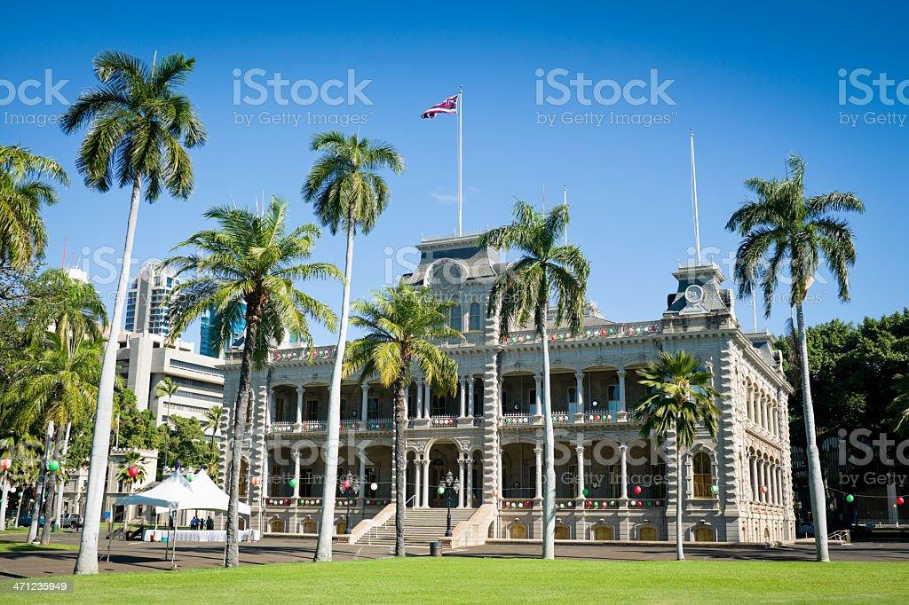 Honolulu Iolani Palace, Hawaii stock photo