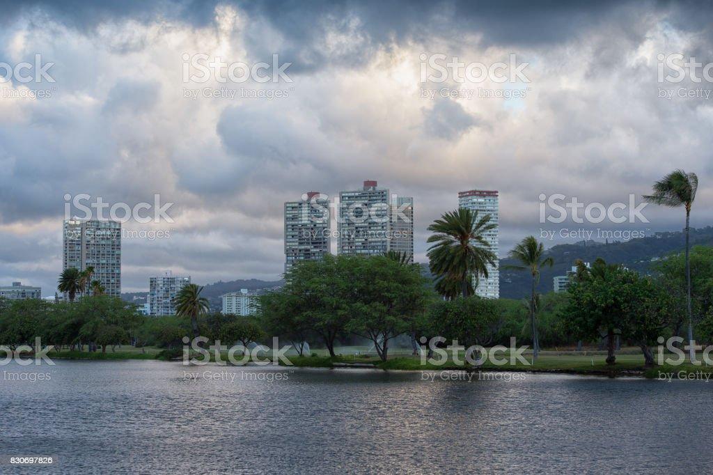 Honolulu Morning stock photo