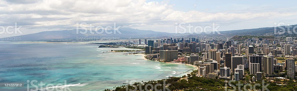 Honolulu Panoramic royalty-free stock photo