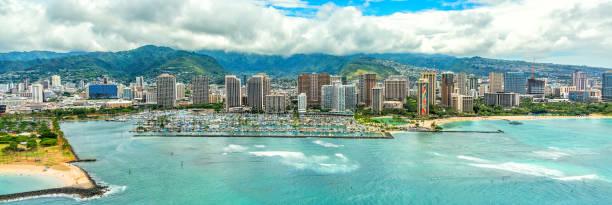 Honolulu Skyline stock photo