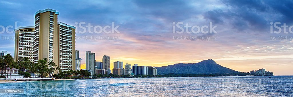 Honolulu Sunrise stock photo