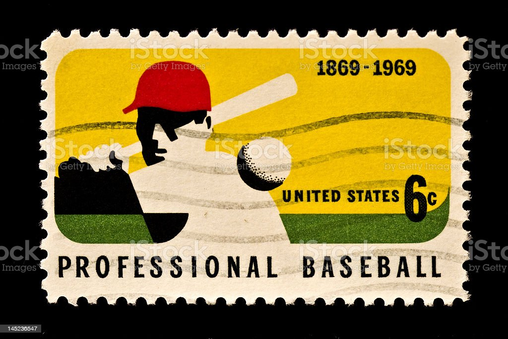 Honoring Major League Baseball Stamp royalty-free stock photo