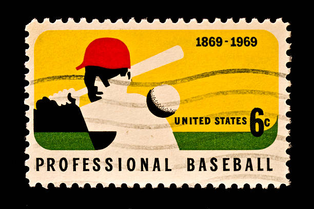honoring major league baseball stamp - spring training stock photos and pictures