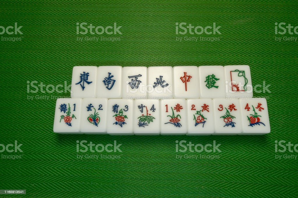 Honors And Bonus Of Mahjong Flowers Tiles The Chinese Game