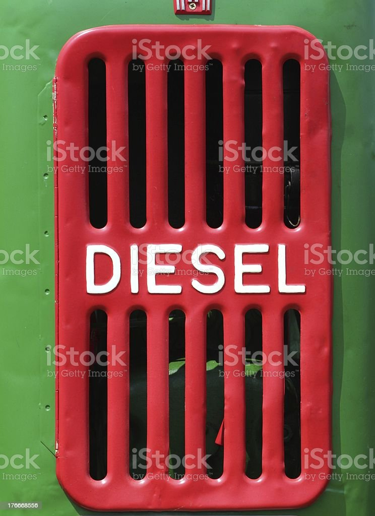 hood of an old tractor royalty-free stock photo