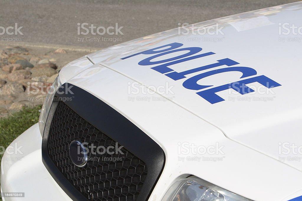 Hood Of Police Cruiser royalty-free stock photo
