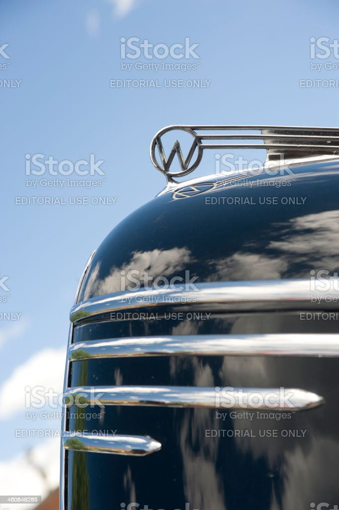 Hood Ornament on a 1940 Willys Automobile royalty-free stock photo