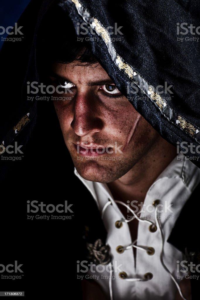 Hooded Assassin stock photo
