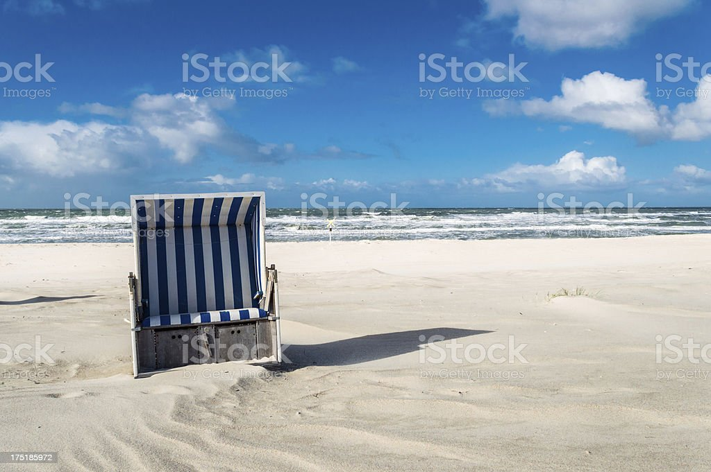 Hooded Beach Chair royalty-free stock photo