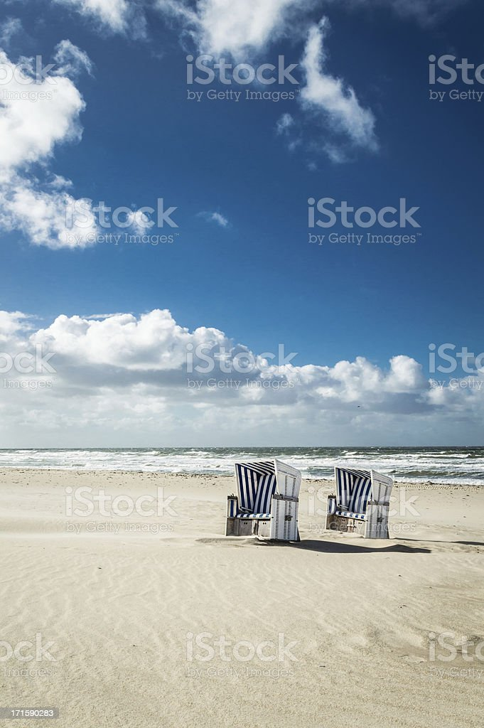 Hooded Beach Chairs stock photo
