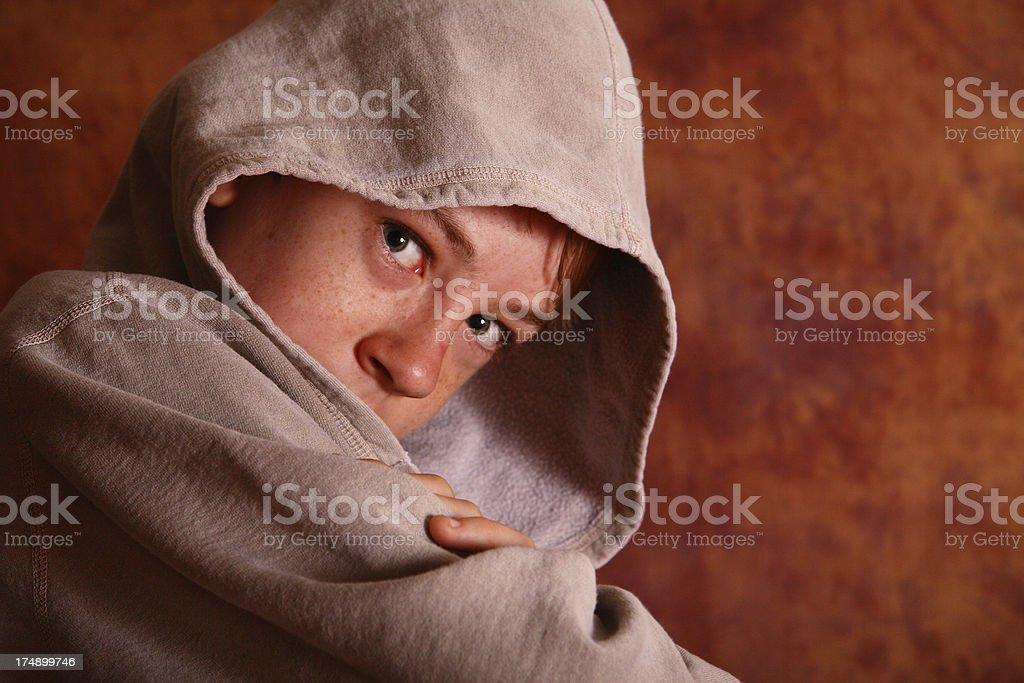 Hooded Boy royalty-free stock photo