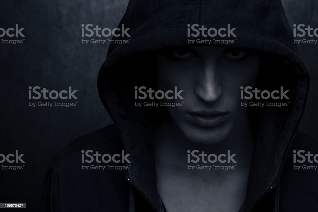 Hooded person royalty-free stock photo