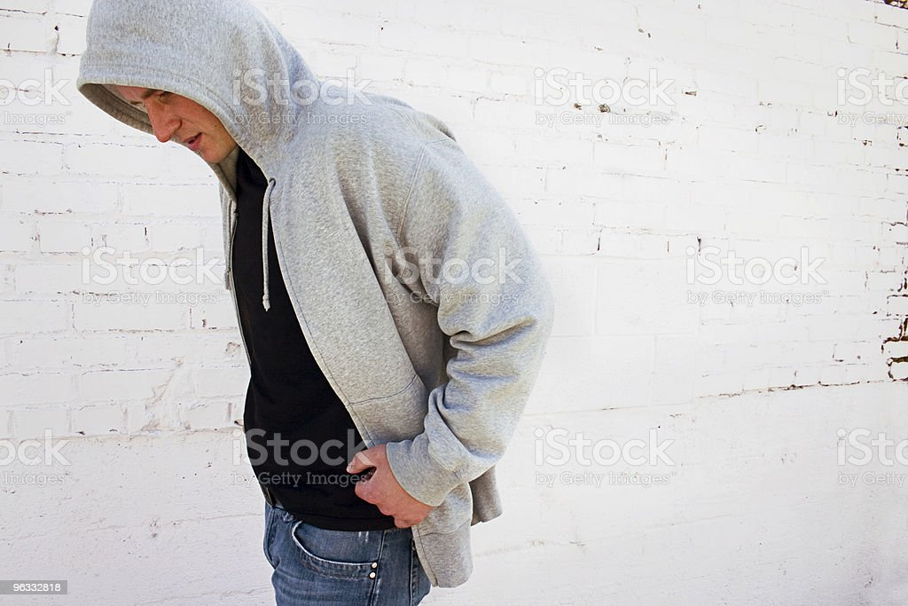 Hooded royalty-free stock photo