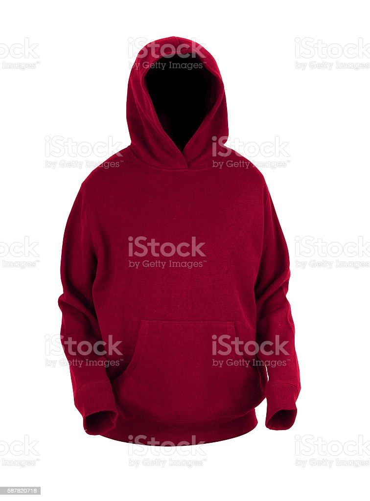 Hooded sweater isolated stock photo