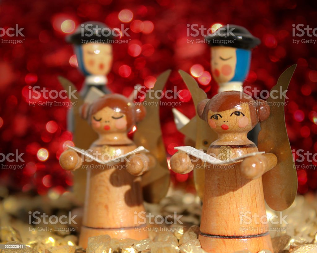 Hooden figures stock photo