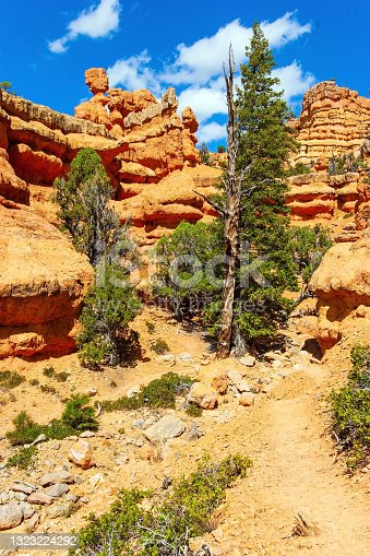 istock Hoodoo are tall geological formations. 1323224292
