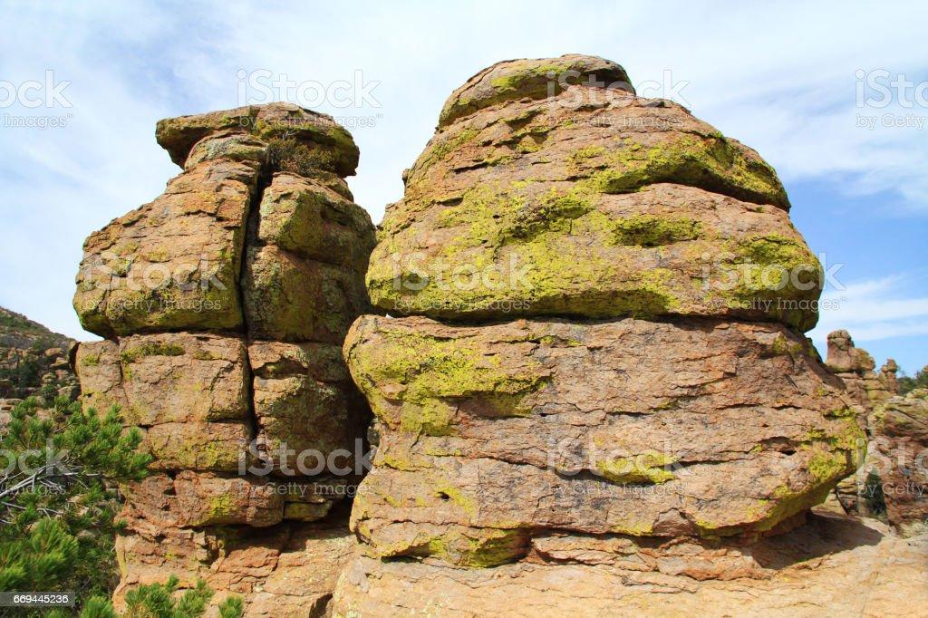 Hoodoo Formations in Chiricahua National Monument, Arizona stock photo