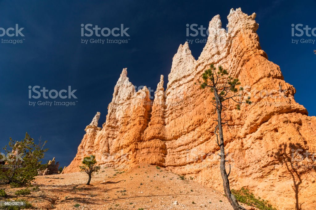 Hoodoo Rock Formations in Bryce Canyon National Park, Utah United States royalty-free stock photo